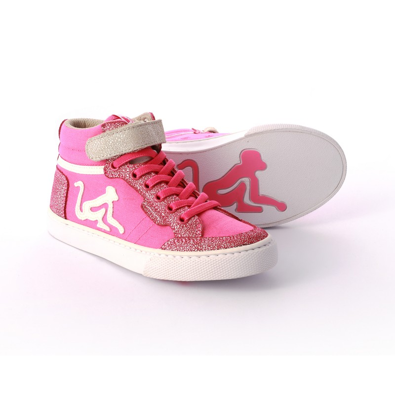 Drunknmunky Boston Princess Fuxia-Off White K39